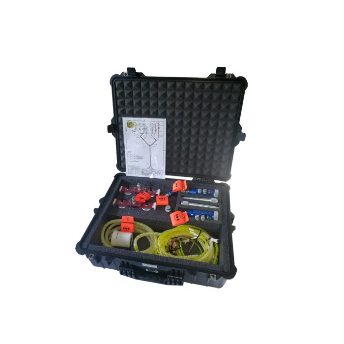 Complete kit in case with adapters Suction cup fixing