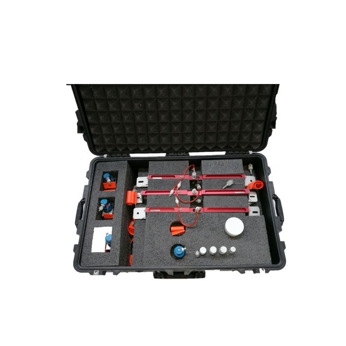 Complete kit in case with adapters Screw fixing